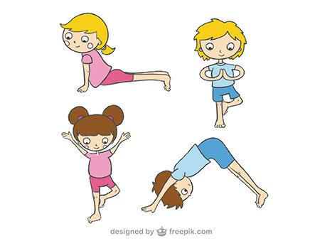 Niñas practicando Yoga