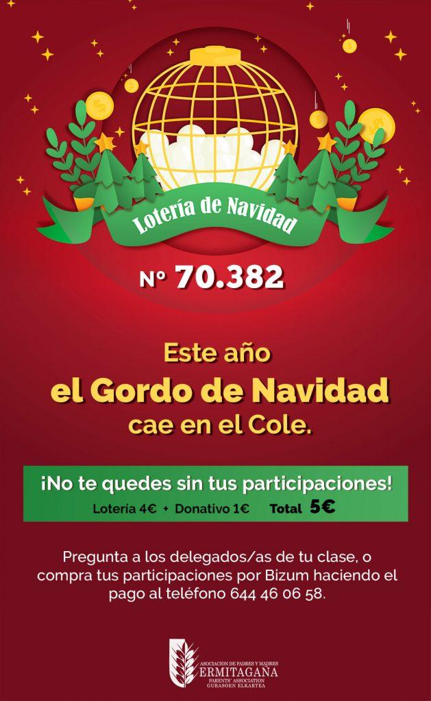 Cartel Lotería Navidad 2020